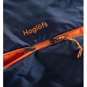 Haglöfs Tarius Lite +8 Sac de couchage 190cm, midnight blue/tangerine